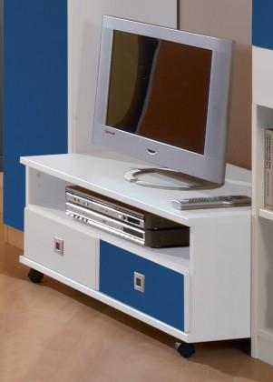 Sunny - TV stolek (alpská bílá s modrou)