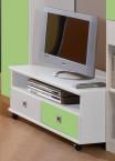 Sunny - TV stolek (alpská bílá se zeleným jablkem)