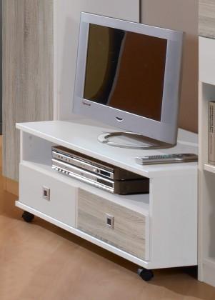 Sunny - TV stolek (dub, alpská bílá)