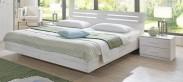 Susan - Komplet, postel 180 cm (bílý dub, chromové doplňky)