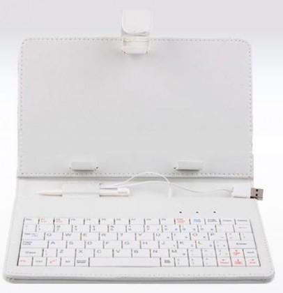 """Tablet pouzdro s klávesnicí OMEGA OCT7KBIB, univerzální, 7"""" bílé"""