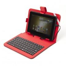 """Tablet pouzdro s klávesnicí OMEGA OCT7KBIB, univerzální, 7"""" červe"""
