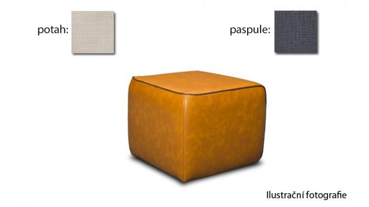 Taburet Case - (k:carezza-steel B137,sk.3S/m:carezza-beige B131,sk.3S)