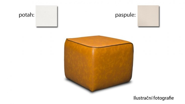 Taburet Case - (k:pulse - beige D243,sk.2s/m:pulse - white D200,sk.2s)