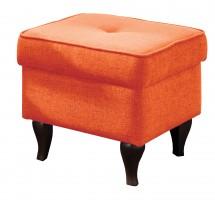 Taburet Flo čtverec oranžová