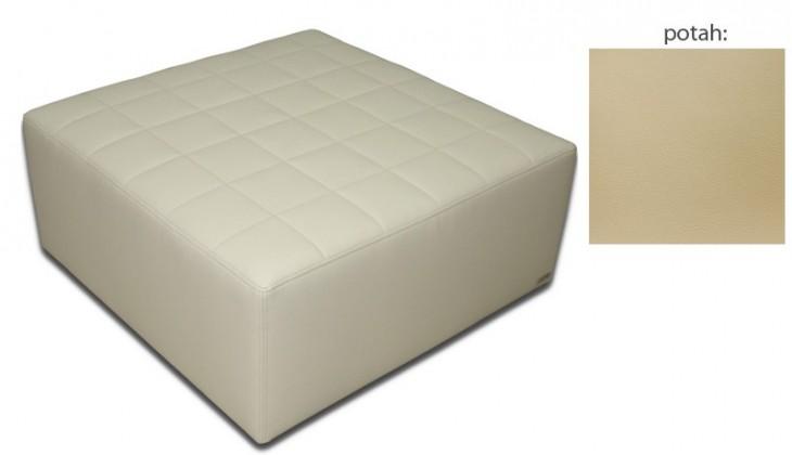 Taburet Taburet čtvercový (extraleather cream)
