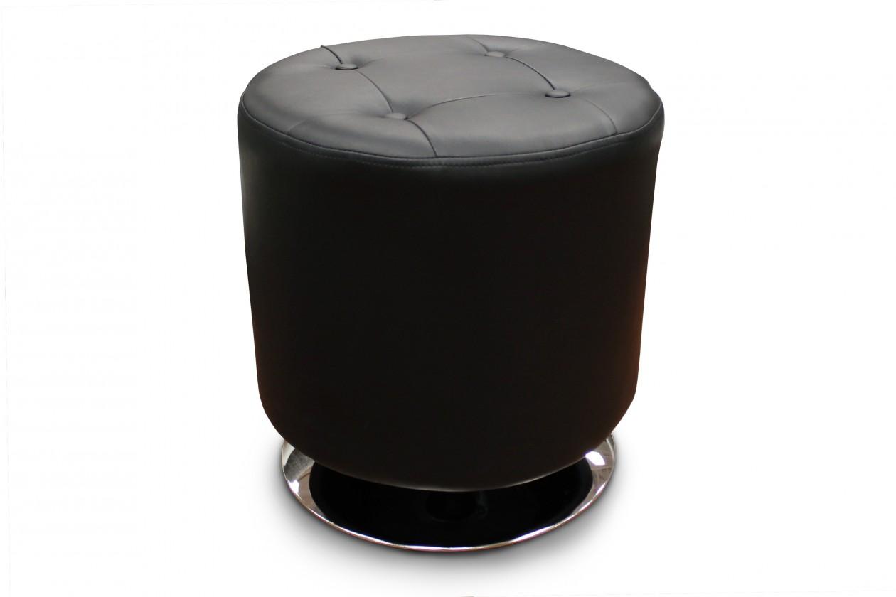 Taburety Taburet Dora kruh černá