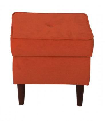 Taburety Taburet Flo čtverec oranžová