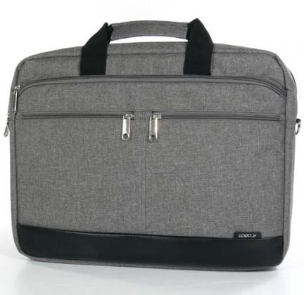 """Tašky na notebooky Trendy taška na notebook,15,6"""",popruh na rameno,šedá z plátna"""