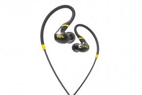 TCL ACTV100BK sportovní sluchátka do uší, drátová,mikrofon,černá