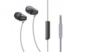 TCL SOCL100BK sluchátka do uší, drátová, mikrofon, černá