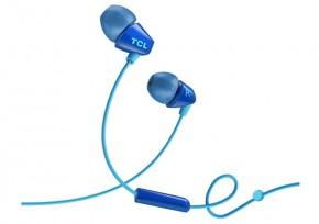 TCL SOCL100BL sluchátka do uší, drátová, mikrofon, modrá