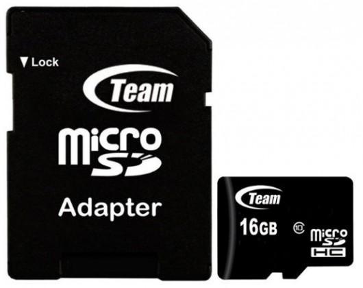 Team micro SDHC 16GB Class 10