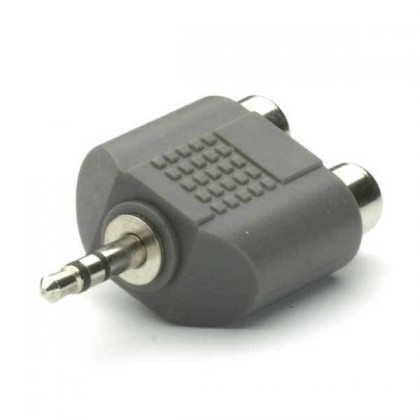 TECCUS Adapter 3,5 mm / 2 x RCA