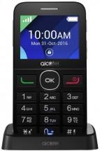 Telefon pro seniory Alcatel 2008G, černá/stříbrná