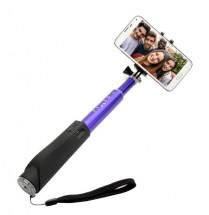 Teleskopická selfie tyč FIXED s BT spouští, modrá
