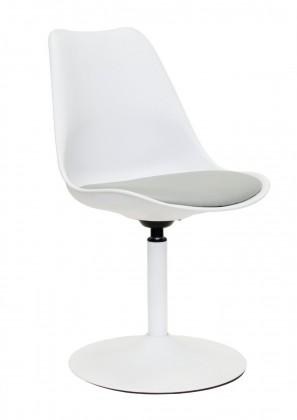 Tequila - Jídelní židle (bílá, eko kůže šedá)