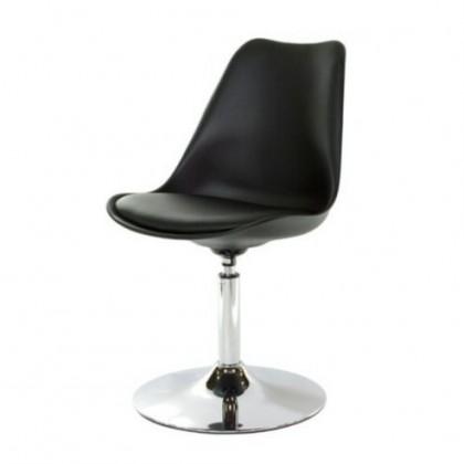 Tequila - Jídelní židle (chrom, černá, eko kůže černá)