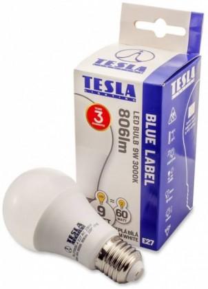 Tesla LED žárovka BULB E27 9W 230V 806lm 25 000h 3000K