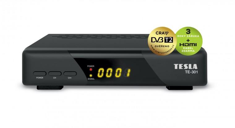 TESLA TE-301 DVB-T2 přijímač H.265 (HEVC)