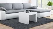 Tess - Konferenční stolek čtvercový (bílá)