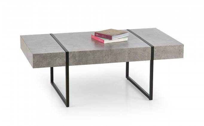 Tiffany - konferenční stolek beton, černý (beton/černá)