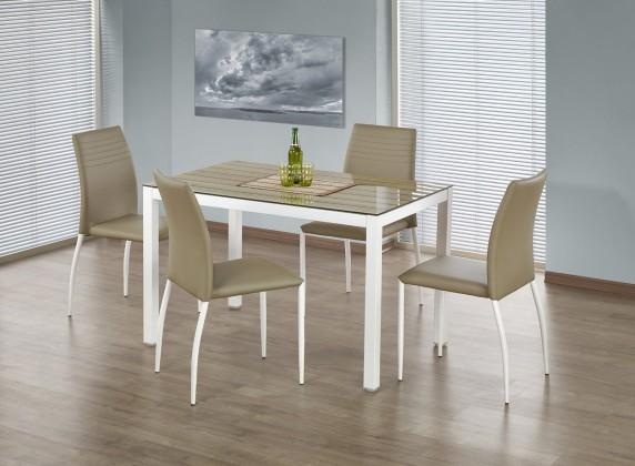 Timber - Jídelní stůl 120x75 cm (dub sonoma, bílá)