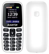 Tlačítkový telefon Aligator A220 bílá