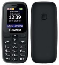 Tlačítkový telefon Aligator A220 černá