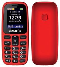 Tlačítkový telefon Aligator A220 červená
