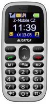 Tlačítkový telefon Aligator A510 bílo-černá