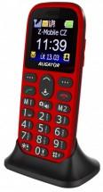 Tlačítkový telefon Aligator A510 červeno-černá