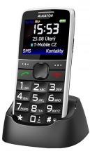 Tlačítkový telefon Aligator A675 bílá