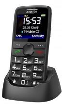 Tlačítkový telefon Aligator A675 černá