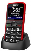 Tlačítkový telefon Aligator A675 červená