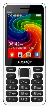 Tlačítkový telefon Aligator D940 DS, bílá