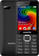 Tlačítkový telefon Aligator D940 DS, černá
