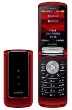 Tlačítkový telefon Aligator DV800, véčko, červená
