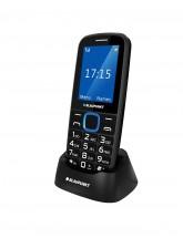 Tlačítkový telefon Blaupunkt BS 04, černá-modrá