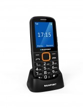 Tlačítkový telefon Blaupunkt BS 04, černá-oranžová POUŽITÉ, NEOPO