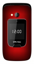 Tlačítkový telefon CPA Halo 15, véčko, červená