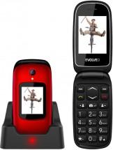 Tlačítkový telefon Evolveo EasyPhone FD, véčko, červená