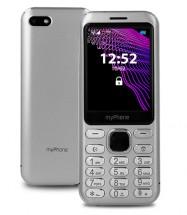 Tlačítkový telefon myPhone Maestro Prestige, stříbrná