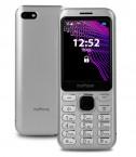 Tlačítkový telefon myPhone Maestro, stříbrná