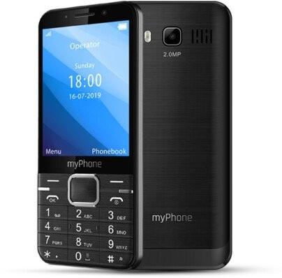 Tlačítkový telefon myPhone Up, černá
