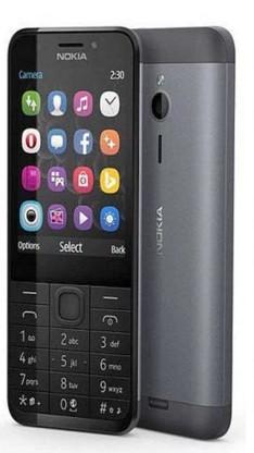 Tlačítkový telefon Nokia 230 Dual SIM, šedá