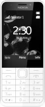 Tlačítkový telefon NOKIA 230 SS bílá/stříbrná