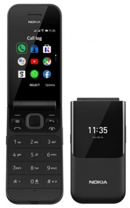 Tlačítkový telefon Nokia 2720 4G DS, černá POUŽITÉ, NEOPOTŘEBENÉ