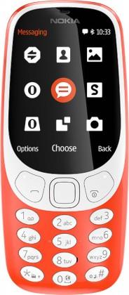 Tlačítkový telefon Nokia 3310 (2017), červená
