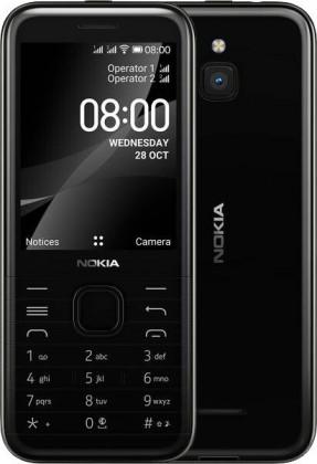 Tlačítkový telefon Nokia 8000 4G, černá